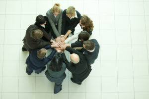 Team motivating circle